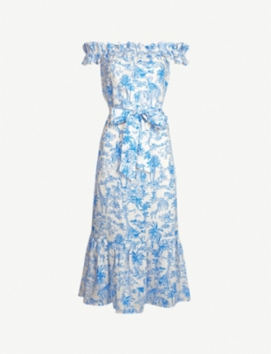 TORY BURCH Printed linen dress
