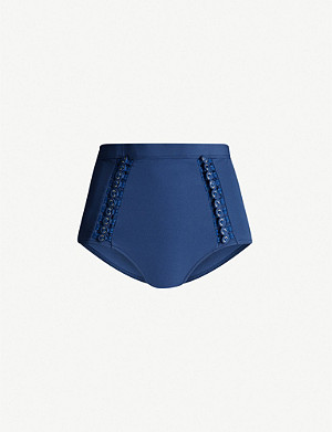 ZIMMERMANN Separates buttoned high-rise bikini bottoms