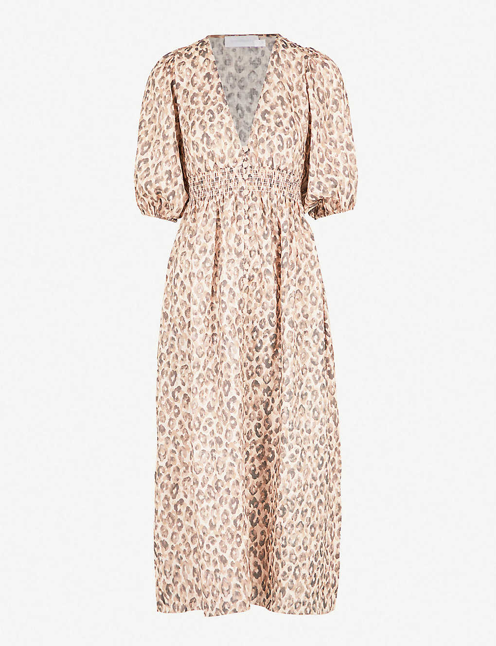 7f862eb13b80a ZIMMERMANN - Melody leopard-print linen dress | Selfridges.com