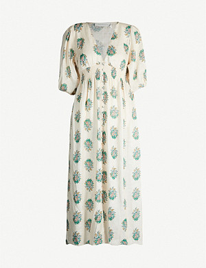 ZIMMERMANN Verity floral-print V-neck linen dress