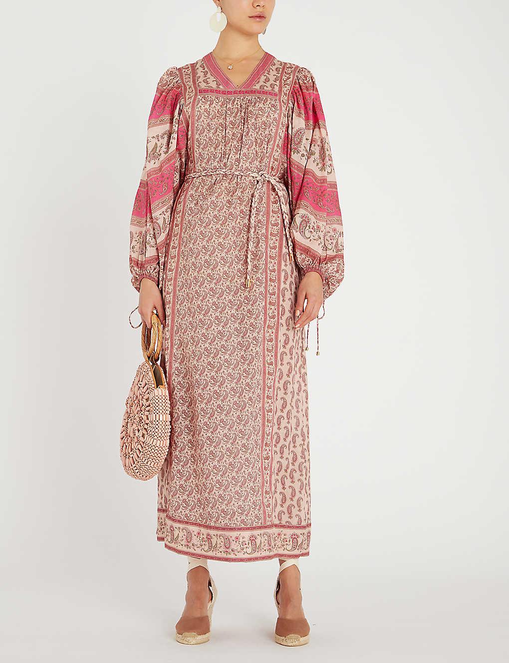 7faa37cb0041 ... Juniper Rioting printed cotton-voile maxi dress - Cream paisley ...