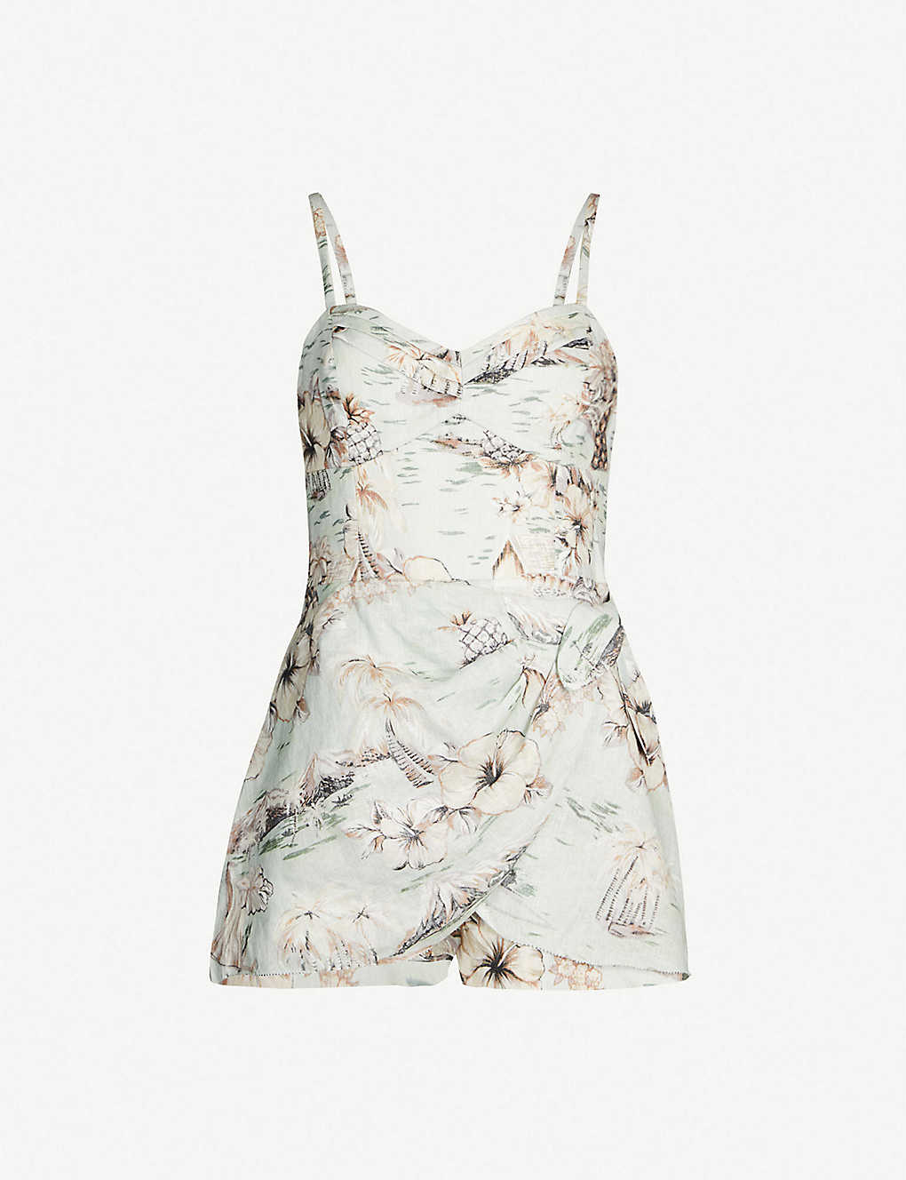 3c86aedc0b ZIMMERMANN - Wayfarer floral-print linen playsuit | Selfridges.com