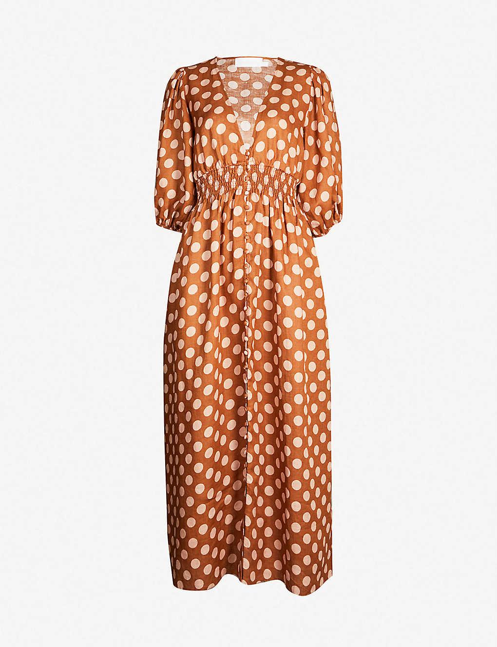 a0211753a7b7 ZIMMERMANN - Primrose polka dot linen dress | Selfridges.com