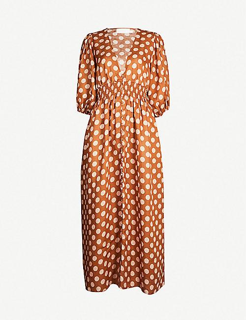 693826d43f ZIMMERMANN Primrose polka dot linen dress