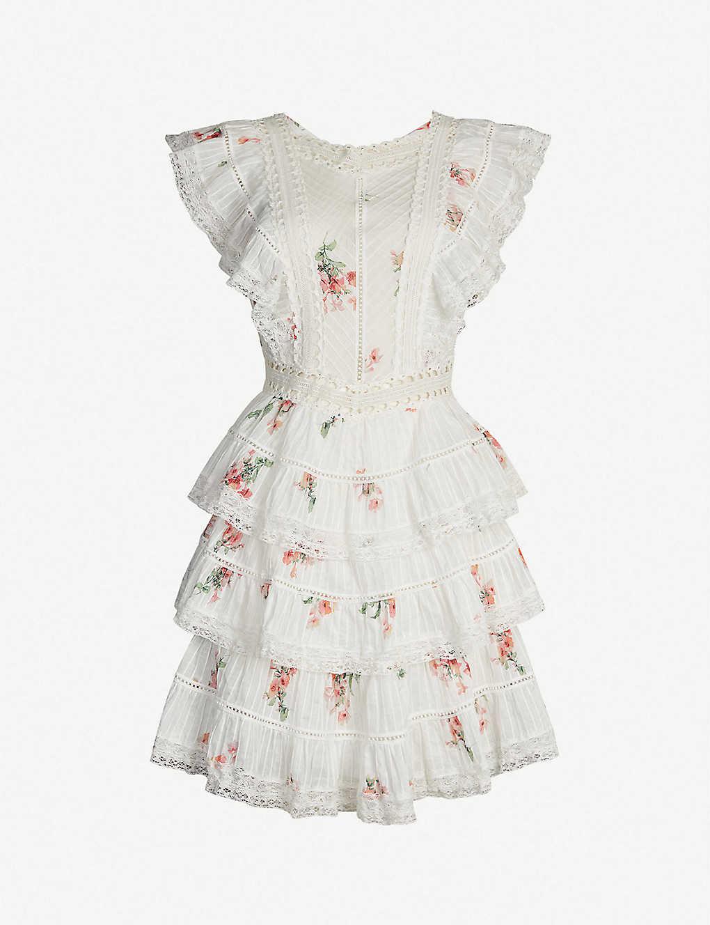 98661885839e6 ZIMMERMANN - Heather pintuck frill cotton dress | Selfridges.com