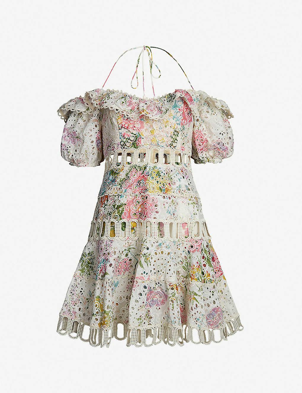 d8e61eae7bd Heather off-the-shoulder cotton dress - Garden floral ...