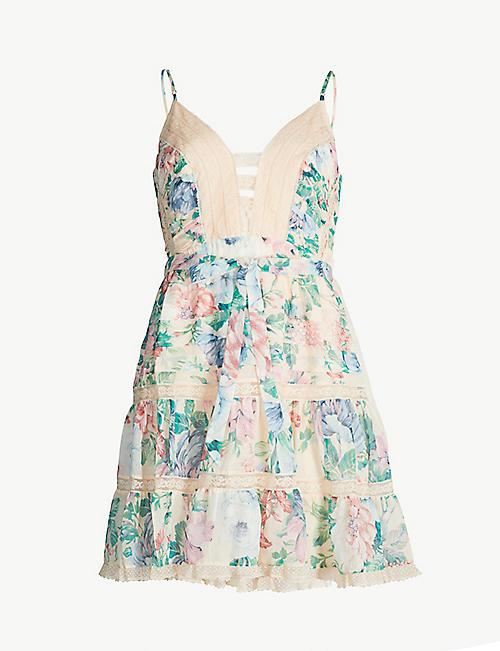 661e2277ea ZIMMERMANN Verity floral-print V-neck cotton silk-blend dress