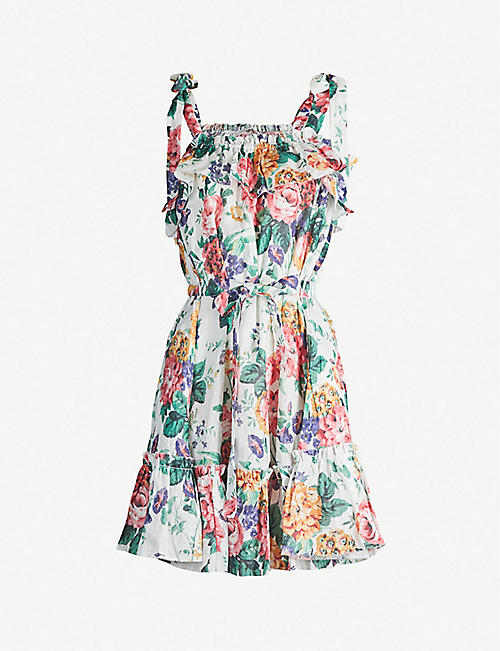 7a014d3a210 ZIMMERMANN Allia floral-print linen mini dress