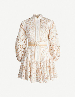 ZIMMERMANN Edie floral lace mini dress