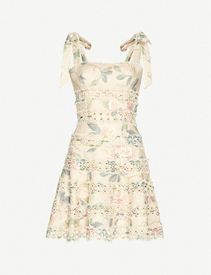 ZIMMERMANN Kirra floral-print linen mini dress