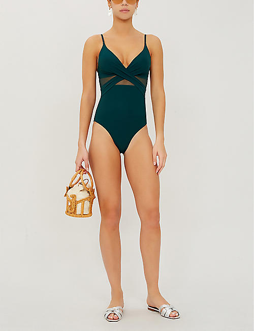 JETS BY JESSIKA ALLEN Mesh-panel swimsuit
