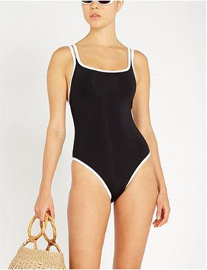 342d7f6057 JETS BY JESSIKA ALLEN Double-strap scoop-neck swimsuit