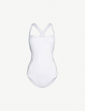 JETS BY JESSIKA ALLEN Infinity mesh-panel halterneck swimsuit