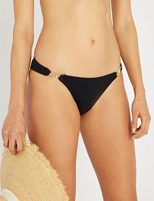 30dbd46bc5 JETS BY JESSIKA ALLEN Embellished low-rise high-leg bikini bottoms