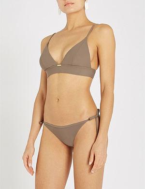 765204f70aaa9 Core Solids triangle bikini top. CALVIN KLEIN Longline triangle bikini top