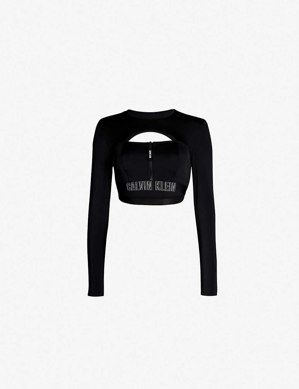 590bcf18321 Intense Power rash guard stretch-jersey bikini top - 094 pvh black ...