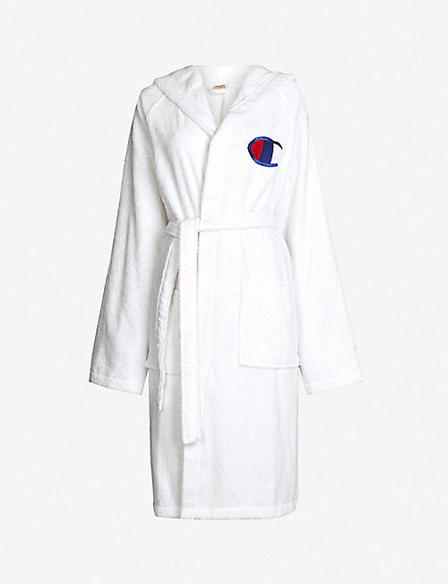 CHAMPION Logo-embroidered cotton dressing gown