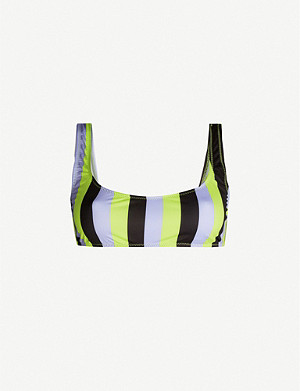 SOLID & STRIPED Elle striped bikini top
