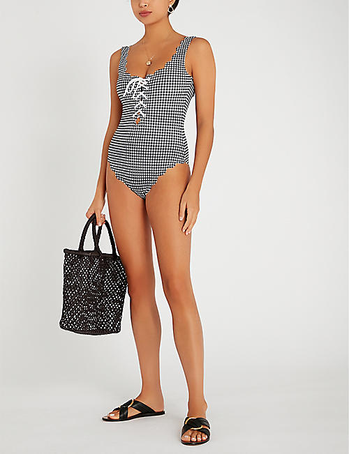 MARYSIA Palm Springs tie-front swimsuit
