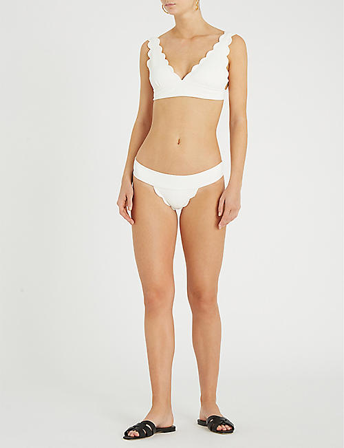 MARYSIA Santa Clara scalloped triangle bikini top