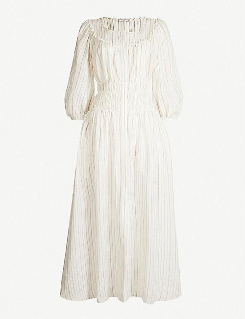 e710078b1c2 THREE GRACES LONDON Arabella striped woven dress