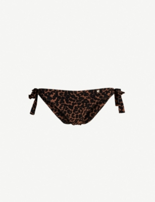 LOVE STORIES Zoey leopard-print bikini bottoms