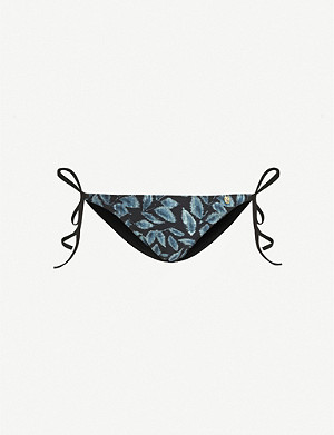LOVE STORIES Vanity leaf-pattern bikini bottoms