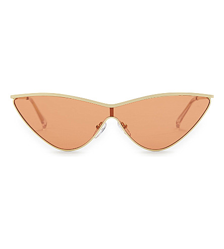 43cecad6b699 Le Specs The Fugitive Cat-Eye Sunglasses In Bright Gold