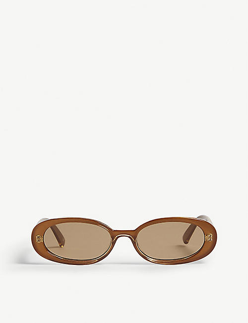 LE SPECS Outta Love oval-frame sunglasses
