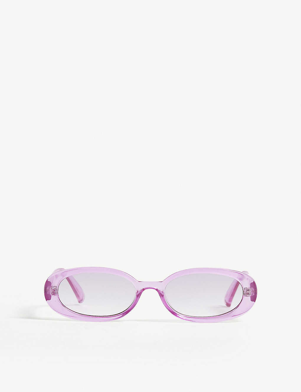 LE SPECS: Outta love oval-frame sunglasses