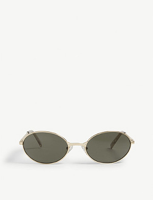 LE SPECS Nowhere oval-frame sunglasses