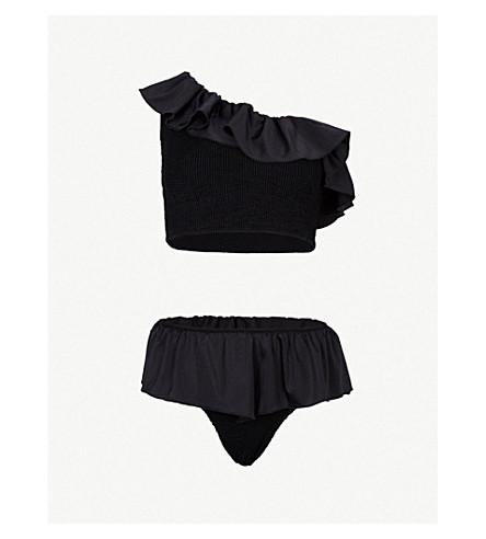158449fcae1cc HUNZA G - Natalia frill bikini | Selfridges.com