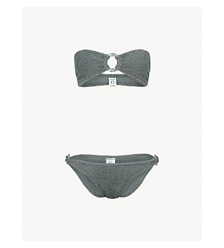 5abe8a2a65 HUNZA G Mila bikini (Grey+w+silver+hoop