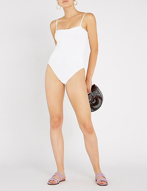 HUNZA G Maria square-neck swimsuit