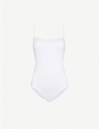 HUNZA G: Maria square-neck swimsuit