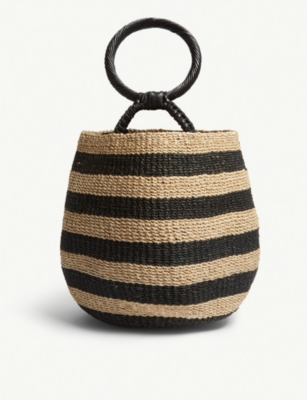 ARANAZ Belle abaca bucket bag