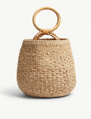 ARANAZ Lena abaca bucket bag