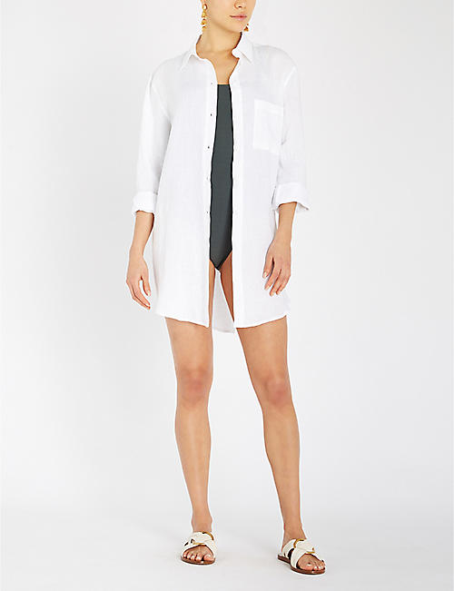 ASCENO Boyfriend long-sleeved linen shirt