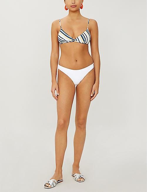 a76c70f00212a ASCENO Striped triangle bikini top