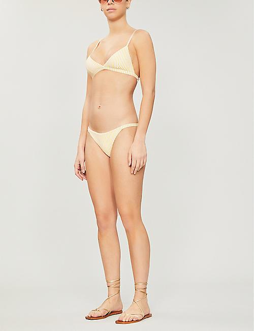 93088d0a9cfe7 ASCENO Striped mid-rise bikini bottoms