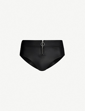 LES GIRLS LES BOYS High-rise bikini bottoms