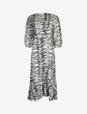RIXO Noleen zebra-print cotton dress