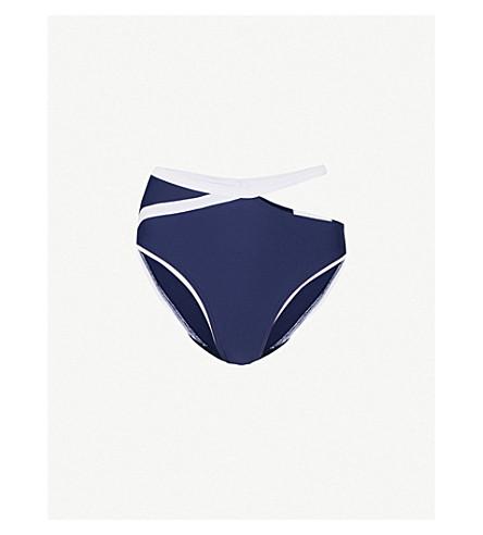 8899bccb0a3f0 ALEXANDRA MIRO Tatiana bikini bottoms (Navy+white