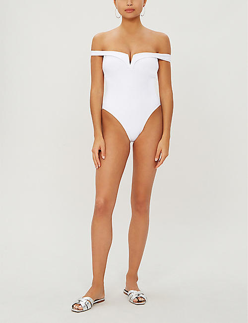 ALEXANDRA MIRO Lola off-the-shoulder swimsuit