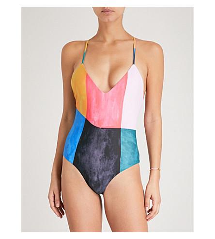 dd919e5028ee4 MARA HOFFMAN Emma swimsuit (Blue+multi