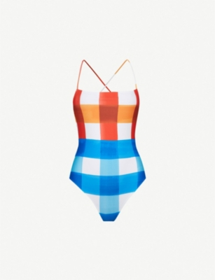 MARA HOFFMAN Olympia square-neck swimsuit
