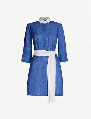 PDN LONDON Sophia linen shirt dress
