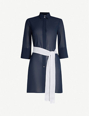 PDN LONDON Sophia cotton shirt dress