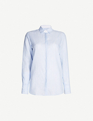 PDN LONDON Valentina striped linen shirt