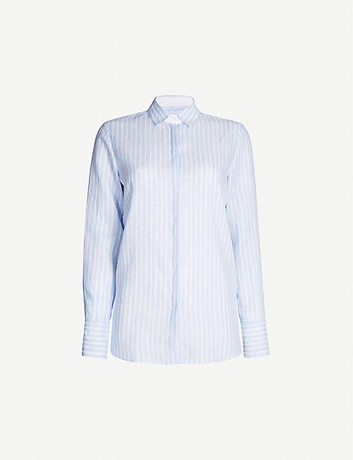 PDN LONDON: Valentina striped linen shirt